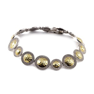 Silver and yellow gold Roman bracelet