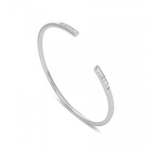 925 Sterling Silver cubic zirconia cuff