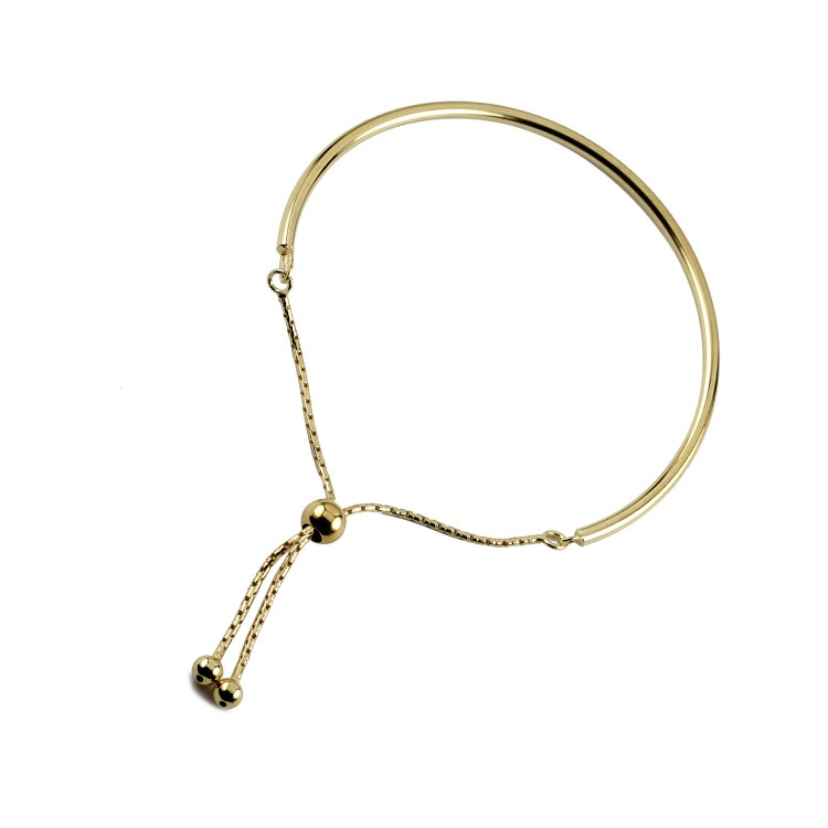 Silver yellow gold contemporary stack and toggle bracelet