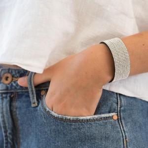 12 Row Sparkling Rhinestone Wrist Wrap