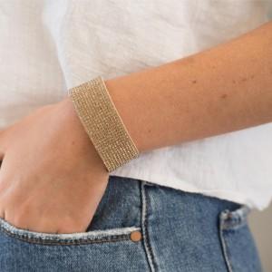 12 Row Gold Rhinestone Wrist Wrap