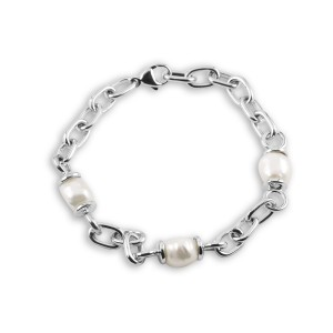 925 Sterling Silver Natural Irregular Pearl bracelet