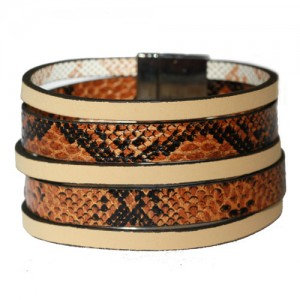 Faux Leather Snake Skin Cuff
