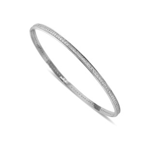 925 Sterling Silver cz encrusted Stacker Bangles