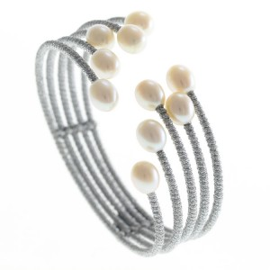 Natural Pearl Statement Cuff