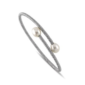 Single Pearl Wrist Wrap Cuff