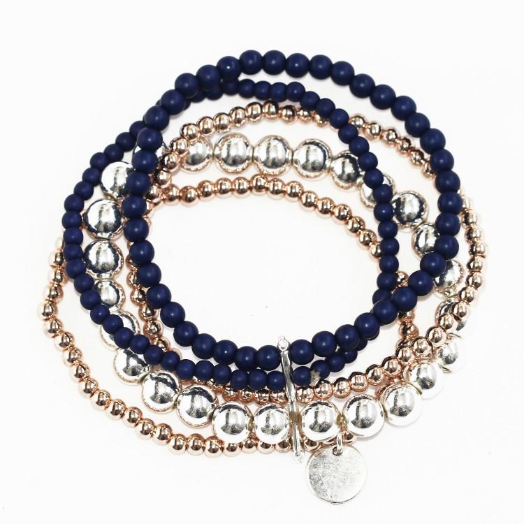 Multi Strand Stretchy Ball Bracelet