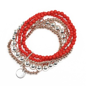 Multi Strand Stretchy Ball Bracelet