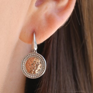 925 Sterling Silver Rose Gold patinaed earrings