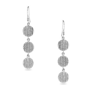 925 Sterling Silver Multi Drop Formal Earrings