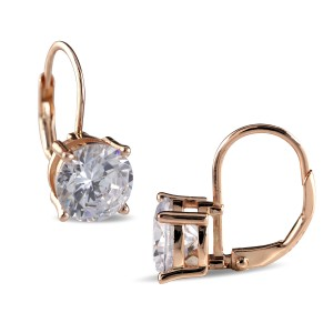 925 Sterling Silver Rose Gold Euro Wire Huggies