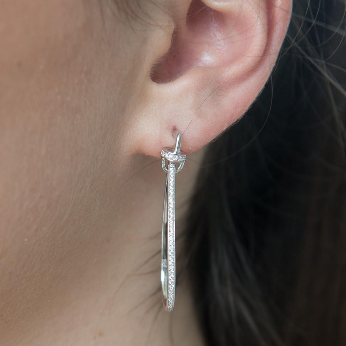Jewellery Domain | Tear Drop Chandelier Sterling Silver Formal Studs