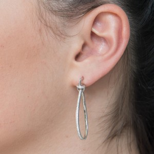 925 Sterling Silver long drop formal studs