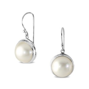 925 Sterling Silver South Sea Pearl earrings