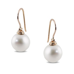 Solid 9k Rose Gold Frewshwater Pearl Earrings
