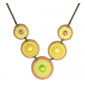 Dessert Sands Beaded Tribal Necklace