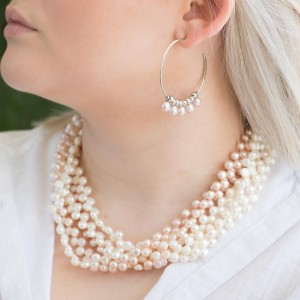 Coco natural freshwater Pink pearl necklace