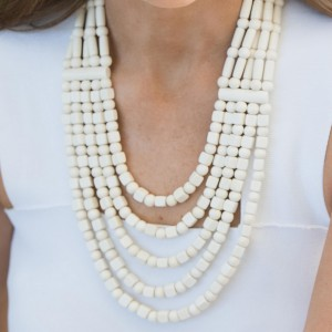 Timber Winter White Cleopatra Necklace