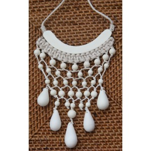 Timber and Twine Winter White Drop Necklace