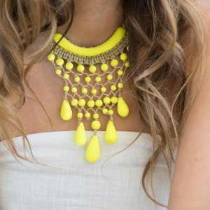 Timber and Twine Sunshine Yellow Drop Necklace