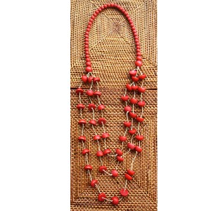 Timber Royal Red Crescent Moon Necklace