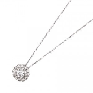 925 Sterling Silver bead set pendant and chain