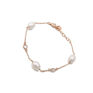 Coco Rose Gold Pearl Bracelet