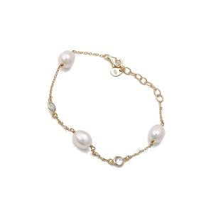 Coco Yellow Gold Pearl Bracelet