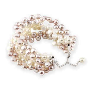 Coco natural pink pearl bracelet