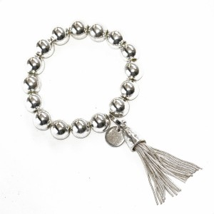 Stretchy Ball and Tassel Bracelet