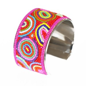Barrier Reef Summer Beaded Cuff