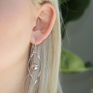 Multi Drop 925 Sterling Silver Swirl Earrings