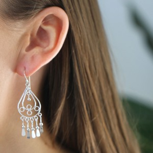 Gypsy Drop 925 Sterling Silver Earrings