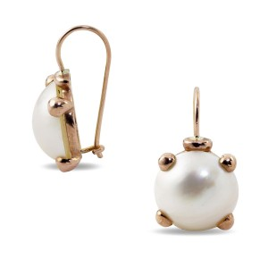 9K Rose Gold Mabe Pearl Earrings