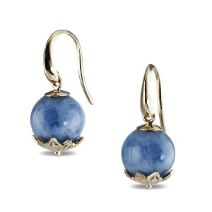9K Yellow Gold Aquamarine Earrings