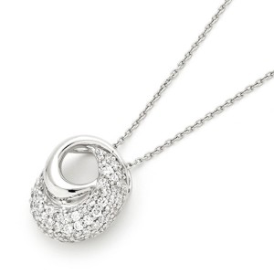 925 Sterling Silver and CZ Swirl Pendant
