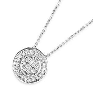 925 Sterling Silver Multi Channel CZ Necklace