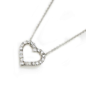 Silver Dainty CZ Heart Necklace