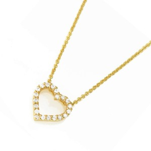 Silver yellow gold Plate Heart Necklace