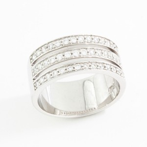 Sterling Silver 3 Band Cubic Zirconia Ring