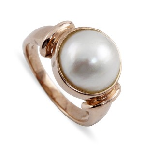 9K Rose Gold Mabe Pearl Ring
