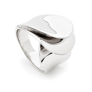 Sterling Silver Roll Over Wave Ring