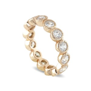 Silver Rose Gold Plate Cubic Stacker Ring