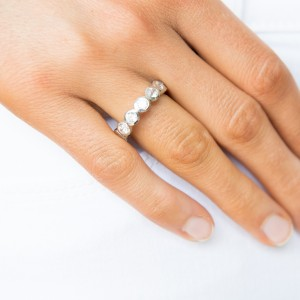 Contemporary Bezel Set Stacking Ring