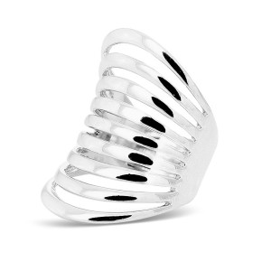 Silver Multi Rail Middle Ring