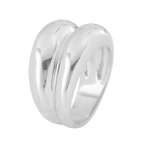 Silver Double Dome Ring