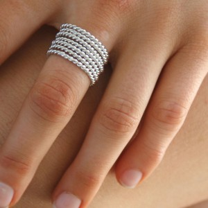 Silver 7 Days A Week Ring