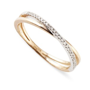 9K Rose Gold Diamond Ring