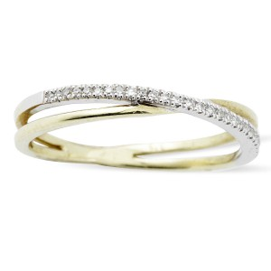 9K Yellow Gold Diamond Ring
