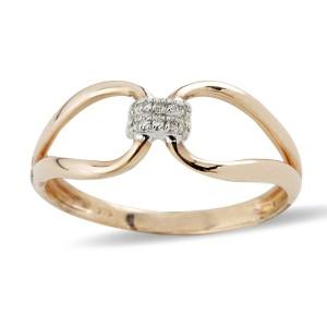 9K Rose Gold Diamond Ring